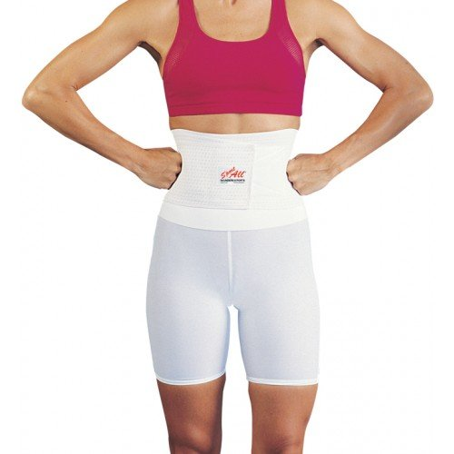 Saunders Sport All Back Support w/Shorts - Men - White - Large