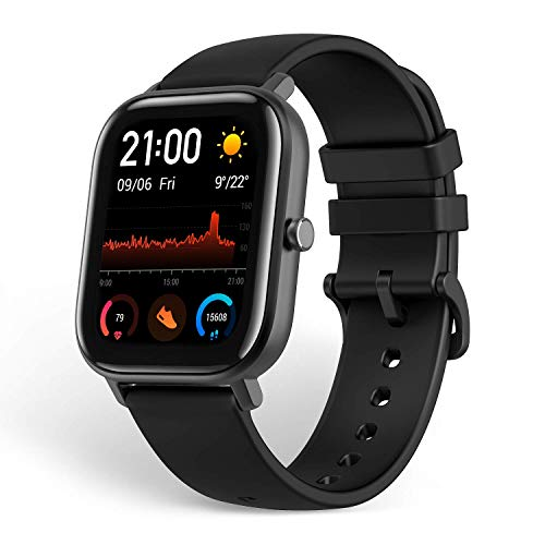 Amazfit GTS Smartwatch Fitness and Activities Tracker with Built-in GPS,5ATM Waterproof,Heart Rate, Music, Smart Notificatons(Black)