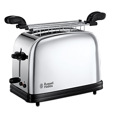 Russell Hobbs 23310-57 Tostapane Victory, 2 Fessure, con Pinze, 1200 W, Acciaio Inossidabile,...