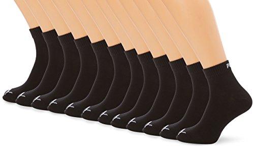 PUMA Uomo Quarters 12er Pack Calzini Sportivi, Uomo, Quarters Sportsocken 12er Pack, Nero, 43-46