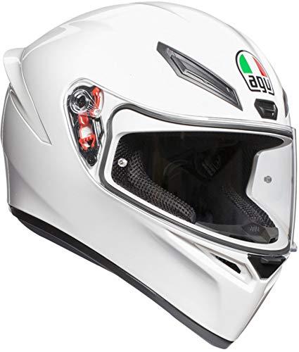 AGV(エージーブイ) バイクヘルメット フルフェイス K1 028194IY001-L WHITE (ホワイト) L (頭囲 59cm~60cm)
