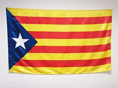 MI RINCON Bandera de CATALUÑA ESTELADA BLAVA 140 x 90cm - Bandera CATALANA INDEPENDENTISTA – Catalunya