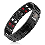 Titanium Magnetic Therapy Bracelet | 4000 Gauss | Rare Earth Magnets | Help Relieve Wrist and Hand Pain Inflammation from Computer Use, Golf, Tennis, Sports | Exact Length: 8.18'-8.74'