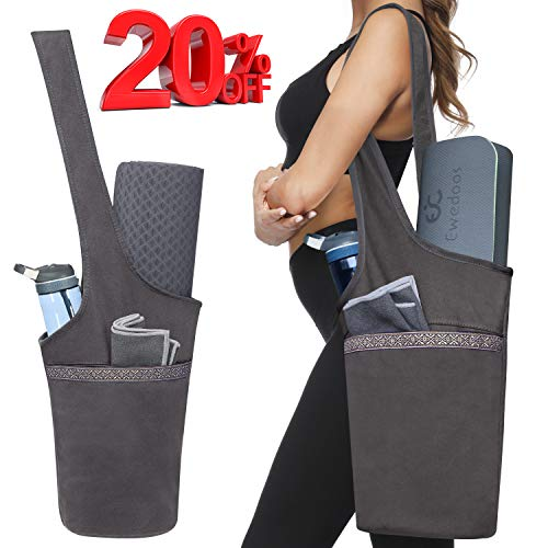 Ewedoos Yoga Mat Bag with Large Size Pocket and Zipper...