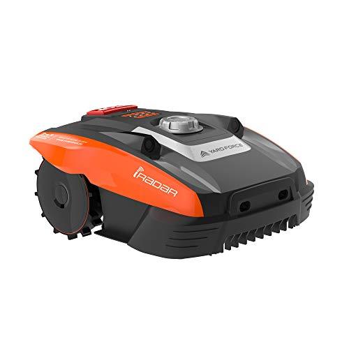 Yard Force Robot Tondeuse Compact 400Ri avec iRadar-Capteurs Ultrasons pour Pelouse jusqu'à 400m², Orange, App