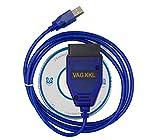 Washinglee OBD2 Diagnostic Cable for VW, Audi, Skoda and Seat, Car ECU Scanner USB Cable Support VAG KKL 409