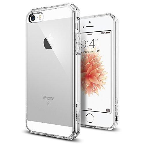 【国内正規品】 Spigen iPhone 5s / 5 ケース ウルトラ・ハイブリッド クリア バンパー (エアクッションテクノロジー) (日本製 液晶保護 フィルム付) クリスタル・クリア 【SGP10640】