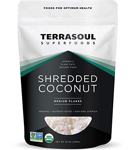 Terrasoul Superfoods Organic Coconut Flakes, 1 Lb - Medium Flakes | Perfect for Baking | Making Coconut Milk