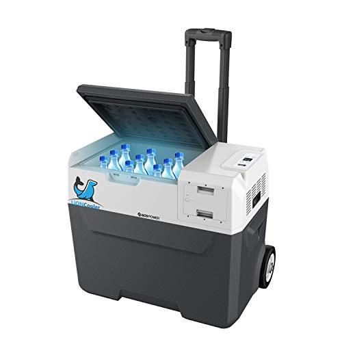 "LiONCooler X40A Rechargeable Solar Fridge Freezer, Snap-in Battery, Solar/AC/Car Charging, App Control, 0℉~50℉, 6"" Large Wheels (42 Quarts)"