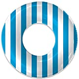 Float Naked | Pool Tubes with Fun Prints | Celebrity-Approved Tubes for Floating | Fun Swim Floaties for Adults | Great Inner Tube Pool Floaty for All Ages (Blue Stripe)