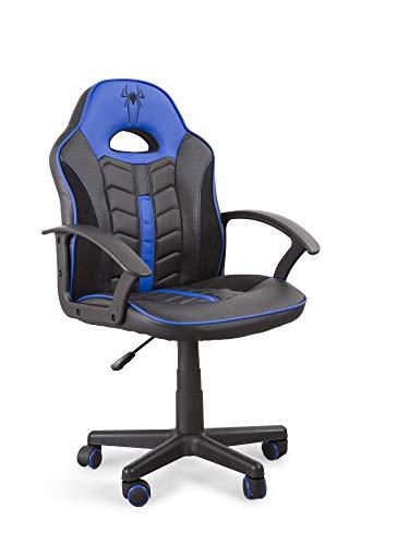 Home Heavenly- Silla Gaming Win, Silla giratoria para niños, niñas, sillón Gamer con Ruedas ergonómico diseño Moderno, para Estudio, habitación Juvenil Escritorio, en tamaño pequeño (Azul)