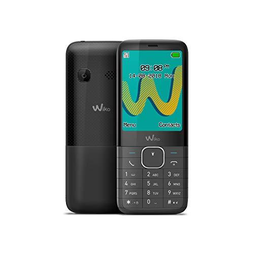 "WIKO Riff3 Plus – Teléfono móvil Libre con Teclas de 2,4"" (Dual SIM, Radio FM, admite Micro SD, Bluetooth, Linterna LED y Reproductor MP3) – Color Negro"