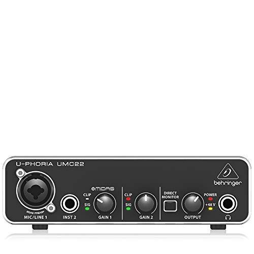 behringer audio interface (UMC22)