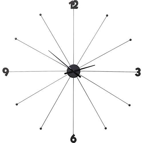 KARE 61805 Orologio da parete Umbrella, nero, metallo