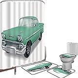 Ensemble de rideau douche Accessoires salleDes voitures Couverture toilette pour tapis...
