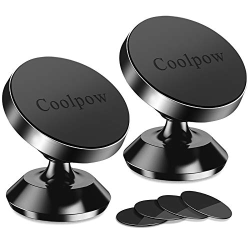 [ 2 Pack ] Magnetic Phone Mount, [ Super Strong Magnet ] [ with 4 Metal Plate ] car Magnetic Phone...