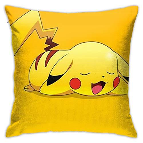 DailiH Cute Pokemon - Pikachu Throw Pillow Covers - Funda de Almohada Cojines Decorativos Decorativos para el hogar 18 x 18 Pulgadas, Dos Lados Impresos