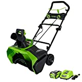 Greenworks 20-Inch 40V Cordless Snow Thrower, 4.0 AH Battery Included 26272 (Renewed)