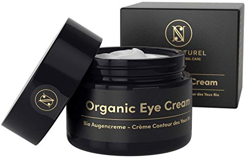 EINFÜHRUNGSANGEBOT Straffende BIO Augencreme gegen Falten und Augenringe 30ml – Anti Falten Creme mit Arganöl Hyaluronsäure Aloe Vera Vitamin E – Satin Naturel Anti-Aging Naturkosmetik Made in Germany