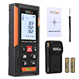 Tacklife HD40 Classic Laser Measure 131Ft M/In/Ft Mute Laser Distance Meter with 2 Bubble Levels, Backlit LCD and Pythagorean Mode, Measure Distance, Area and Volume - Carry Pouch and Battery Included