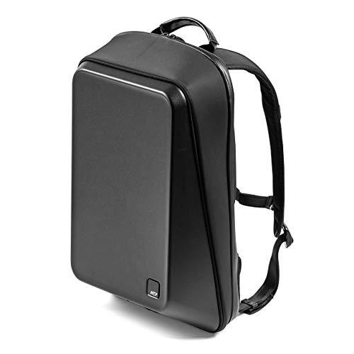 サンワダイレクト リュック ハードシェル 耐水 バッグインバッグ付 13.3型PC収納 モバイルデスク USB充電対応 200-BAGBP022BK