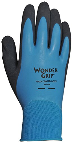 6. Wonder Grip 318 Rubber Full Coat Gloves