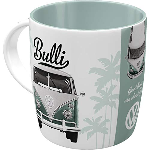 Nostalgic-Art - Volkswagen Retro Kaffee-Becher - VW Bulli T1 - Good things are ahead of you, Große Lizenz-Tasse, Vintage VW Bus Geschenk-Idee, 330 ml
