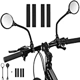 Mordely Bike Mirror, 2pcs Adjustable Handlebar Rear View Mirrors with Wide Angle Acrylic Convex...