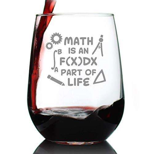 Math is an Integral Part of Life – Stemless Wine Glass -...