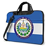 El Salvador Escudo de Armas Bolso para computadora portátil Bolso de Hombro Bolso para computadora Maletín Bolso de Hombro Inclinado 15.6 Pulgadas