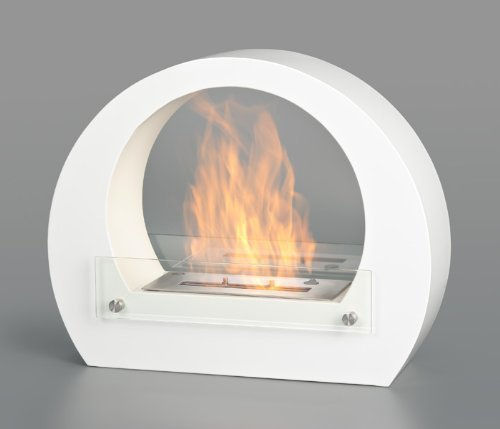 DRULINE Bio Ethanol Wall Fireplace Cheminee Gel Table - Amsterdam White