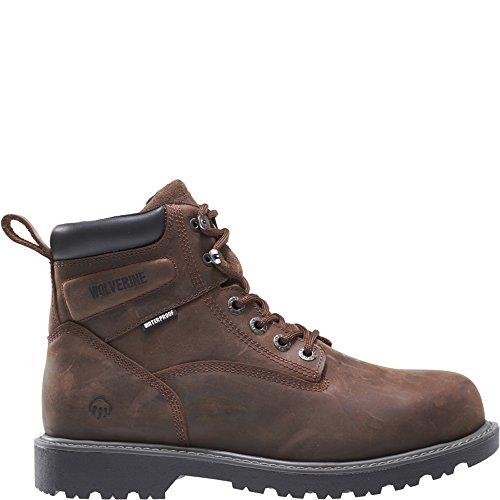 Wolverine Men's Floorhand 6 Inch Waterproof Steel Toe-M Work Boot, Dark Brown, 9 M US