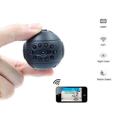 SHENGY Telecamera IP WiFi Mini Telecamera 1080P HD Micro Action Cam DV DVR Telecamera a infrarossi per la Visione Notturna Piccola videocamera Portatile, Adatta per la Sicurezza Domestica