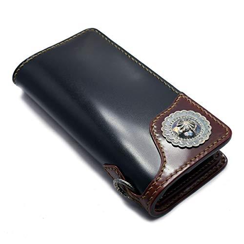 日本製 本革 フラットヘッド 財布 ウォレット THE FLAT HEAD ストックバーグ フラットヘッド ヘリテージ シリーズ 手縫い コードバン ロングウォレット 小銭差し込み式 FH-WL003C ブラック ブラウン メンズ 長財布 本革