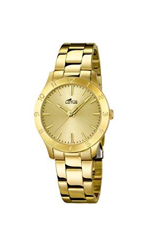 Lotus Damen Analoger Quarz Uhr mit Edelstahl Armband 18140/2