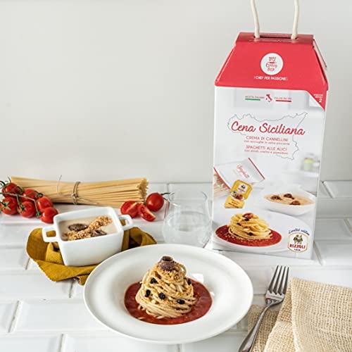 CENA SICILIANA My Cooking Box x2 Porzioni - Per una serata tra amici, una cena romantica o come idea regalo originale!