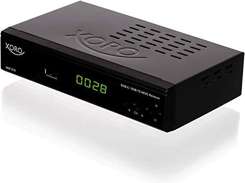 "Xoro HRM 7619 Full HD \""HEVC DVB-T/T2/C\"" Kombi Receiver (HDTV, HDMI, SCART, Mediaplayer, USB 2.0, LAN) schwarz"