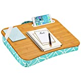 LapGear Designer Lap Desk with Phone Holder and Device Ledge - Aqua Trellis - Fits up to 15.6 Inch Laptops - Style No. 45422,Medium - Fits up to 15.6' Laptops