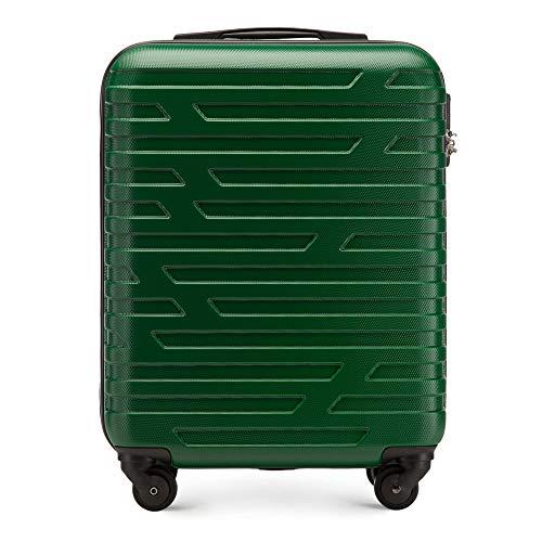 WITTCHEN Koffer – Handgepäck   hartschalen, Material: ABS   hochwertiger und Stabiler   Grün   38 L   54x39x23 cm