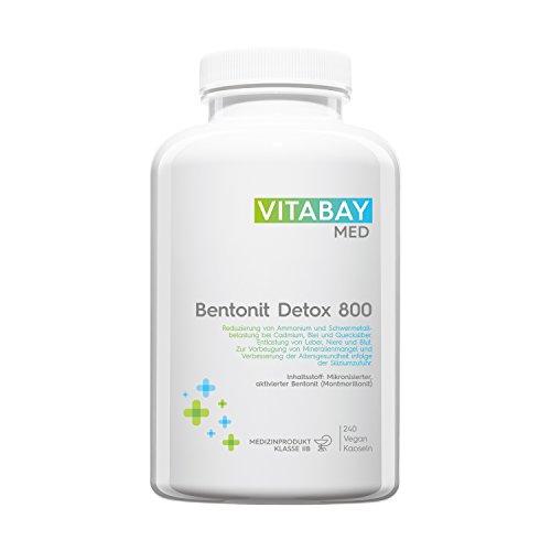 Bentonit DETOX 800 Medizinprodukt - 240 vegane Kapseln