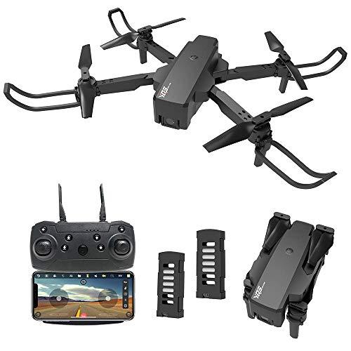 le-idea Drone con Telecamera Professionale 2K HD, IDEA18 Quadricottero WiFi con Tecnologia Flusso Ottico, 3D Flip, Controllo dei Gesti, MiniFPVDrone Adatto ai Principianti e Bambini, 2 batterie