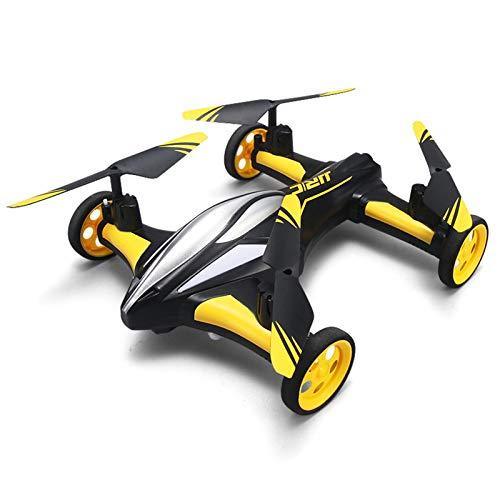 WANXJM A Quattro Ruote motrici Drone a 4 Assi Terra e Aria Aereo con Telecomando a Doppia modalit Ritorno a Un Pulsante LED Visione Notturna Elicottero da Corsa