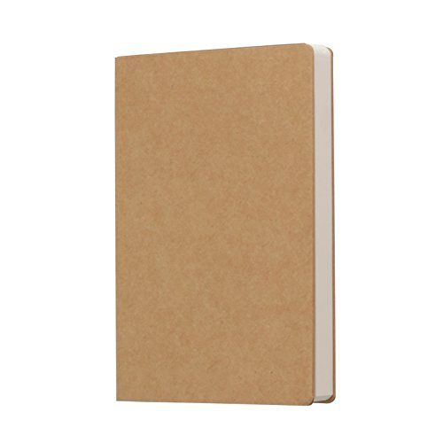Kraft Cover Blank 100g Full Wood Paper Sketch Book - 112 Sheets/224 Pages - 140 Millimeters by 210 Millimeters - 350gsm Kraft Paper