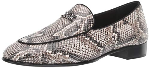 41fyDcDLqmL Embossed leather loafer X accessory