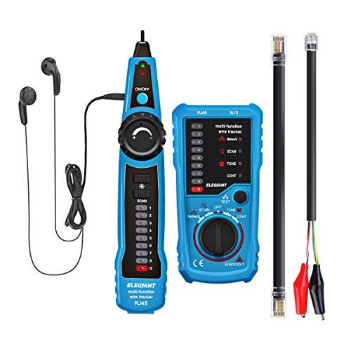 ELEGIANT Kabelfinder Kabeltester Leitungssucher Telefon RJ45 RJ11 Finder Draht Verfolger LAN Netzwerk Kabelsucher wire tracker Leitungsdetektor Emitter für Telefonkabel und LAN - Kabel