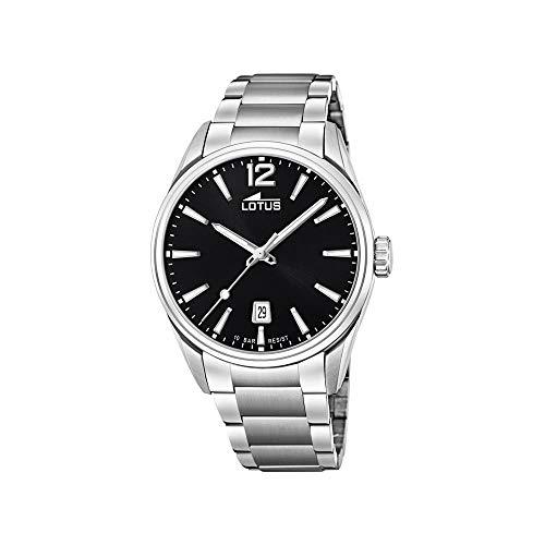 Lotus Herren Analog Quarz Uhr mit Edelstahl Armband 18692/3