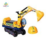 COLOR TREE Ride-on Excavator Pretend Play Construction Truck for Toddlers Kids Pedal Free Vehicle