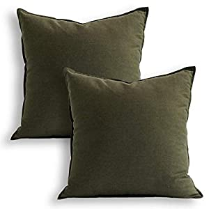 "WHAT you can get: 2 pcs 18""x18"" green pillowcases which are made of grade A natural eco-friendly 55% linen and 45% cotton. HOW to wash: Do not bleach and tumble dry. Cool iron on reverse. Wash dark colours separately. Remove immediately if product be..."