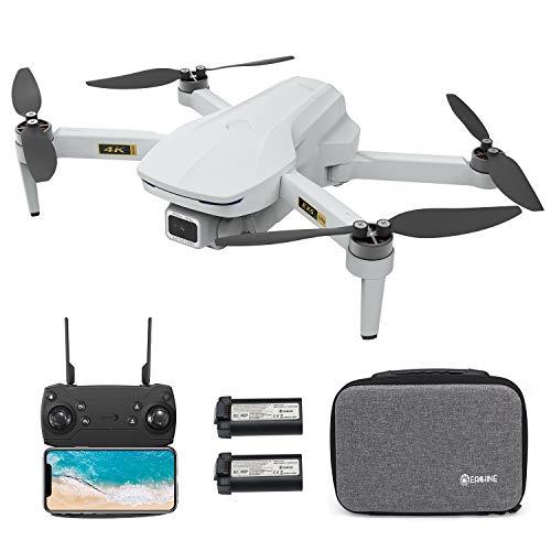 EACHINE EX5 Drone con Telecamera 4K HD GPS Pieghevole per Adulti 60 Minuti di Volo 1000 metri di pPrtata FPV Controllo Gestuale 5G GHz WiFi FPV Brushless Motor GPS Follow Me (Due Batterie e Borsa)