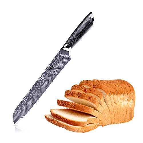 Kitchen Emperor Coltello da Pane, Coltello da Torta 22.8cm in Acciaio Inossidabile ad Alto Tenore di...